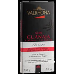 Chocolat Noir Guanaja 70% Tablette 250 g - Valrhona