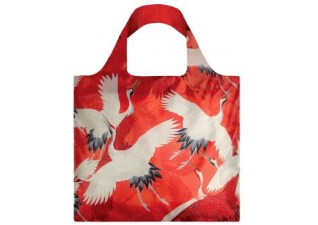 Opvouwbare Herbruikbare Tas Haori White and Red Cranes - LOQI