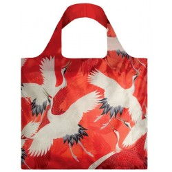 Opvouwbare Herbruikbare Tas Haori White and Red Cranes - LOQI