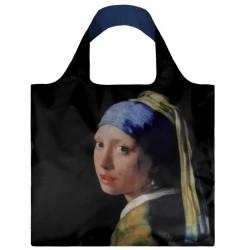 Sac Réutilisable Pliable Vermeer La Jeune Fille à La Perle  - LOQI