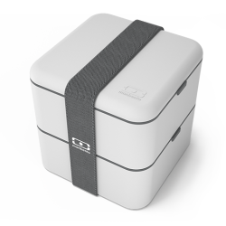 Square Bento LunchBox Grijs Coton - MonBento