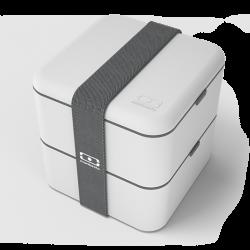 Square Bento LunchBox Gris Coton - MonBento