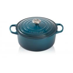 Signature Ronde Braad-/ stoofpan 4.2 l Blauw Deep Teal (24 cm) - Le Creuset