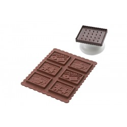 Moule Biscuits Gnam Gnam Slim Box  - Silikomart