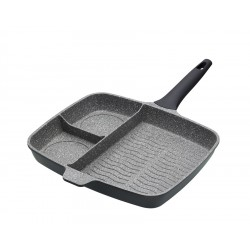 Grillpan 3-secties 32 cm - KitchenCraft