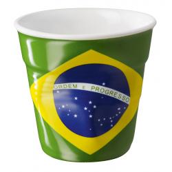 Gobelet Froissé Espresso 8 cl Drapeau Brésil  - Revol