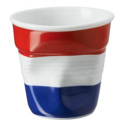 Froissé Vervormde Espresso Kopje 8 cl Vlag Frankrijk - Revol