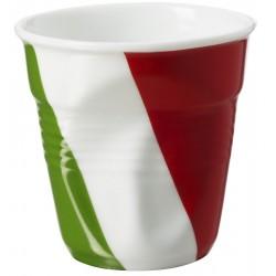 Gobelet Froissé Espresso 8 cl Drapeau Italie  - Revol