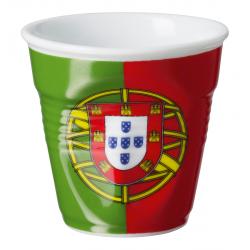 Gobelet Froissé Espresso 8 cl Drapeau Portugal  - Revol