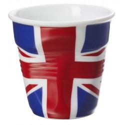 Gobelet Froissé Espresso 8 cl Drapeau UK  - Revol