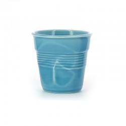 Froissé Vervormde Cappuccino Kopje 18 cl Blauw Caraïbes - Revol