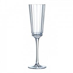 Macassar Flûte à Champagne 6 pcs  - Cristal D'Arques
