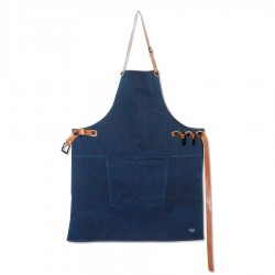 Canvas Tablier Bleu Dark Blue  - DutchDeluxes