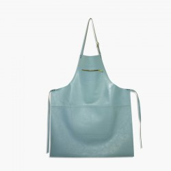 Amazing Aprons Colours Keukenschort  Leer Dusty Blue  - DutchDeluxes