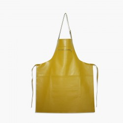 Amazing Aprons Colours Keukenschort  Leer Yellow - DutchDeluxes