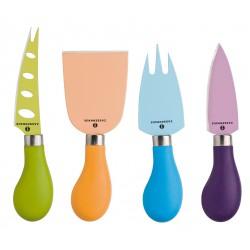 Easy Cut Set Couteaux Fromage Couleurs 4 pces - Zassenhaus