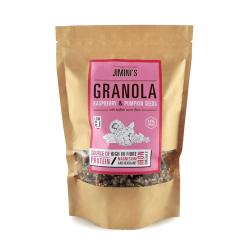 Framboos en Pompoen Zaden granola 250 g - Jimini's