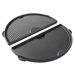 Half Moon Cast Iron Plancha Griddle Large XLarge en XXLarge - Big Green Egg