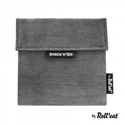 Snackbag Snack n Go Eco Zwart - Roll Eat