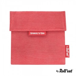 Snackbag Snack n Go Eco Rood - Roll Eat