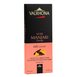 Donkere Chocolade Manjari Pépites à l'Orange Tablet 85 g - Valrhona