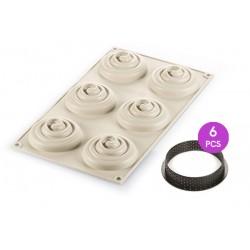 Kit Mini Twist Taart 3D Bakvorm  - Silikomart
