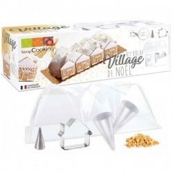 Moule Bûche Village de Noël  - Scrapcooking