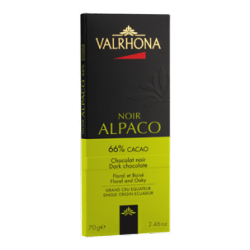 Chocolat Noir Alpaco Tablette 70 g - Valrhona