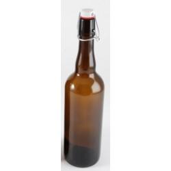 Bouteille à Bière en verre brun 0.75 l - Radis et Capucine