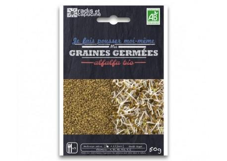 Kiemzaad Pakket Alfalfa Bio 50 g - Radis et Capucine