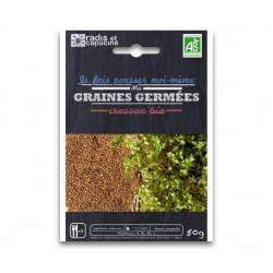 Sachet Graines à Germer Cresson Bio 50 g - Radis et Capucine