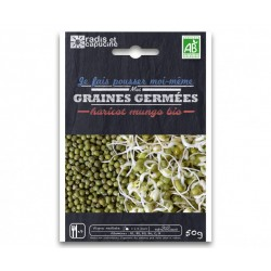 Sachet Graines à Germer Haricot Mungo / Soja Vert Bio 50 g  - Radis et Capucine