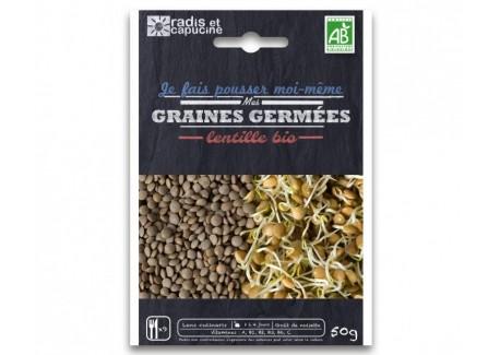 Sachet Graines à Germer Lentille Bio 50 g - Radis et Capucine
