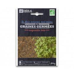 Sachet Graines à Germer Roquette Bio 50 g - Radis et Capucine