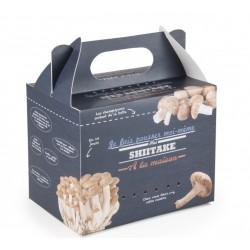 Kit de culture de champignons Shitaké Bio - Radis et Capucine