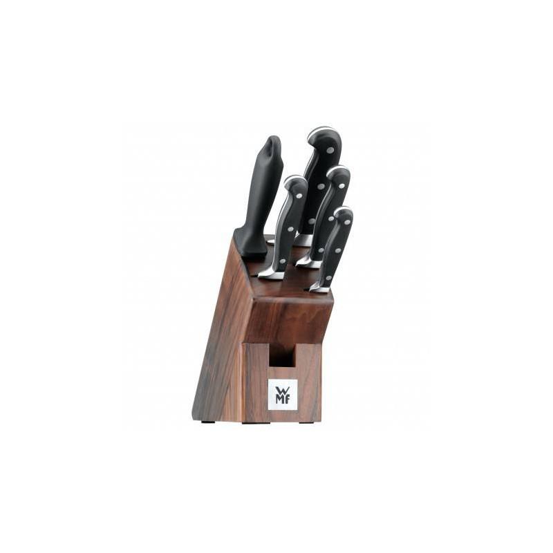 SET DE COUTEAU DE CUISINE PROFESSIONNEL DESIGN 8pcs en inox poele marmites bloc