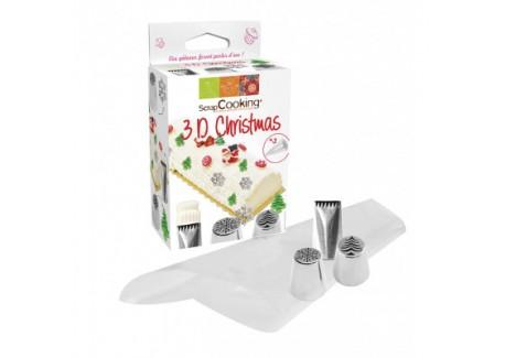 Kit Douilles 3D Christmas  - Scrapcooking