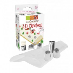Spuitmondjes 3D Christmas Kit - Scrapcooking