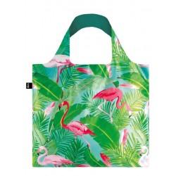 Opvouwbare Herbruikbare Tas Flamingos  - LOQI