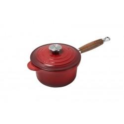 Saucier Manche en Bois Rouge Cerise 18 cm  - Le Creuset