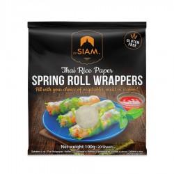 Spring Roll Wrappers Feuilles de Riz pour Spring Roll 100 g - De Siam