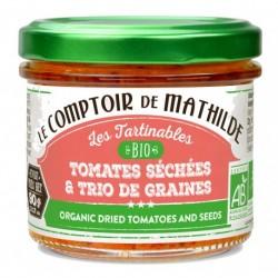 Tartinable Bio Tomates Séchées et trio de graines  - Comptoir de Mathilde