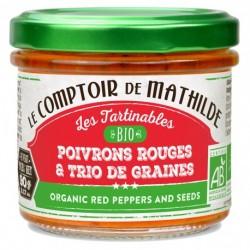 Tartinable Bio Poivrons Rouges et Trio de Graines - Comptoir de Mathilde
