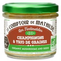 Tartinable Bio Champignons et Trio de Graines - Comptoir de Mathilde