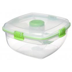 To Go Saladbox + Dressingcompartiment en Bestek 1.63 l