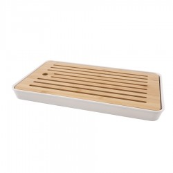 Bamboe Broodplank met Opvangbak 43x26x4.3 cm  - Point Virgule