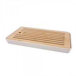 Bambou Planche à Pain avec Ramasse Miettes 43 x 26 x 4.3 cm - Point Virgule
