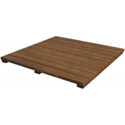 Table Modulaire Plateau en Bois d'Acacia