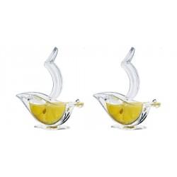 Citruspres 1/2 Schijfjes Acryl Set 2 dlg - Le Tellier