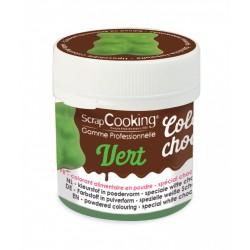 Voedsel Chocolade Kleuragent Groen 5g - Scrapcooking